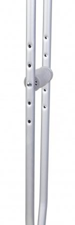 Костыли подмышечные алюминиевые (пара), H= 114-134 см