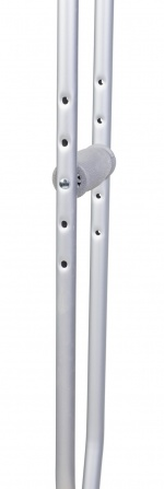 Костыли подмышечные алюминиевые (пара), H= 134-154 см