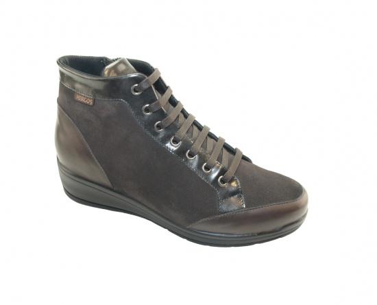 Женские ботинки, арт Н9310 Camoscio/Nappa Nero