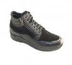 Женские ботинки, арт S3502 Nappa/Camoscio Nero