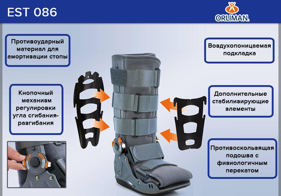 EST-086/1 Ортез на голеностопный сустав-стопу(p.S) (EST-086/1)