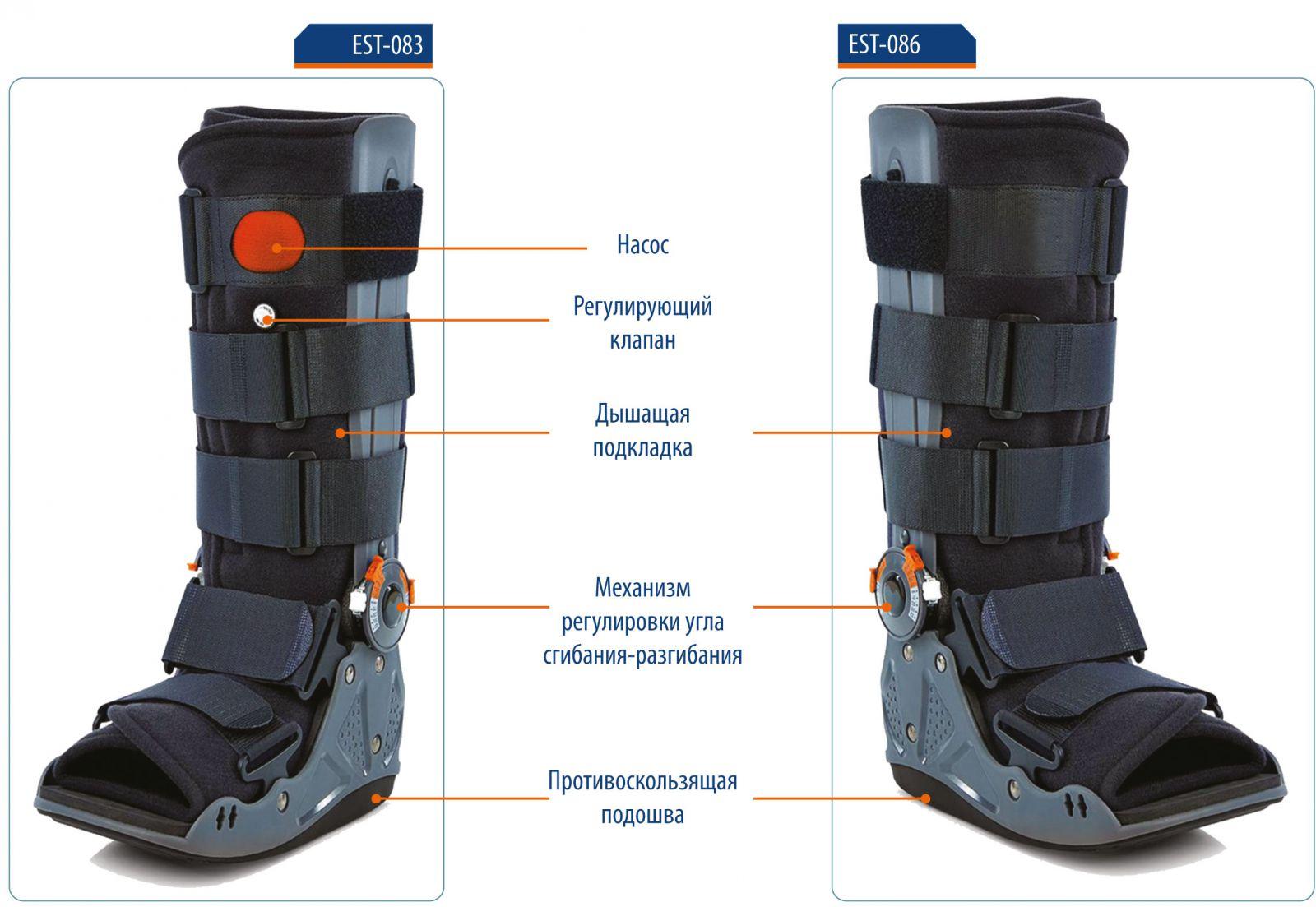 EST-086/3 Ортез на голеностопный сустав-стопу (p.L) (EST-086/3)